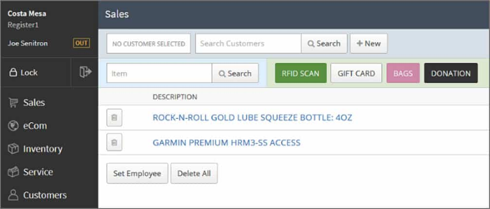 LightSpeed POS integration with Senitron Solutions sales tab